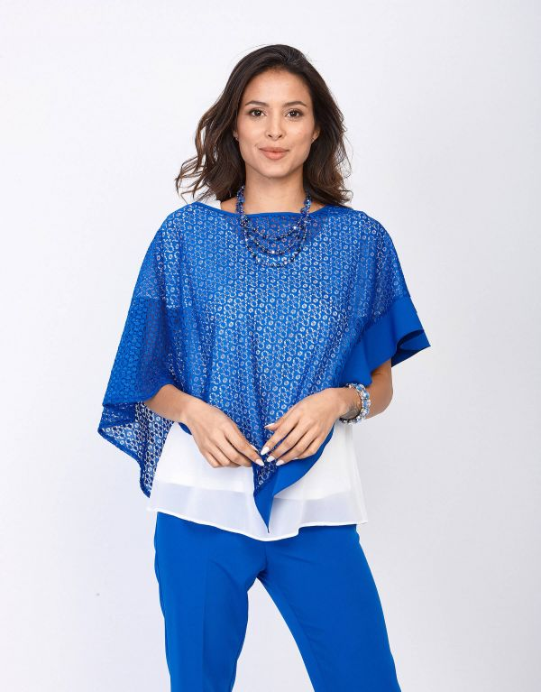 Poncho in pizzo