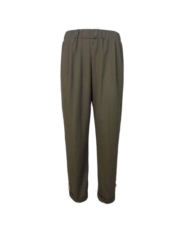 Pantalone misto lino con...