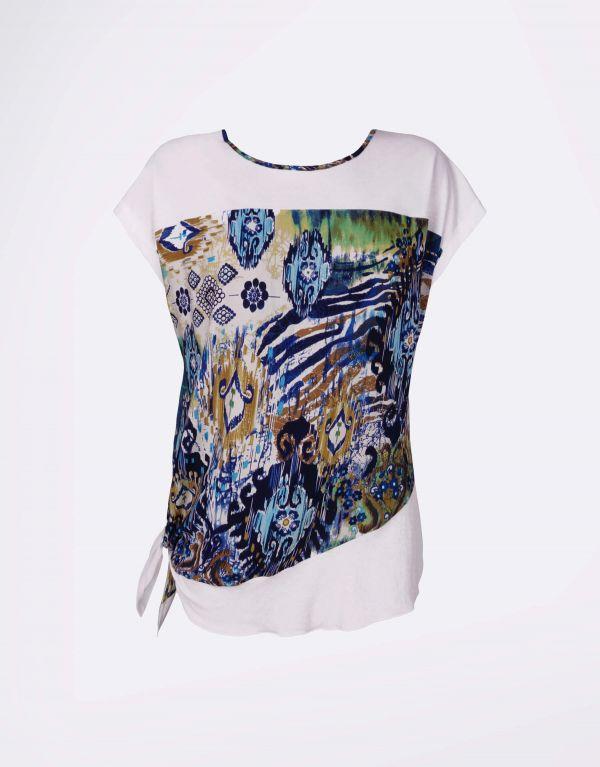 T-shirt in maglia di lino...