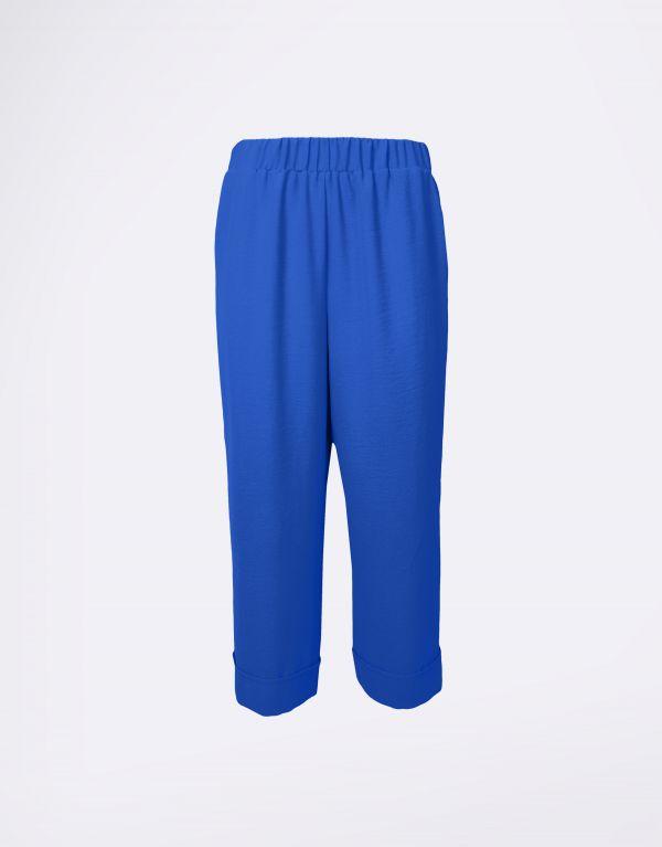 Pantalone cropped con risvolto