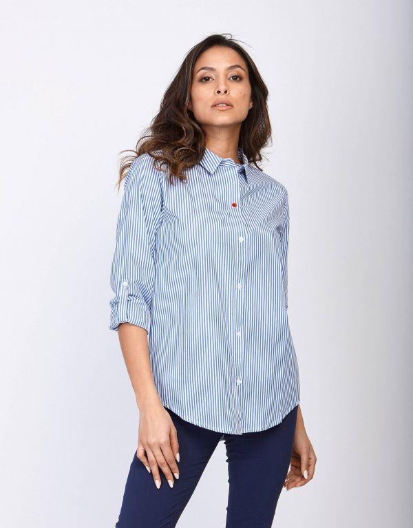 Camicia di cotone a righe