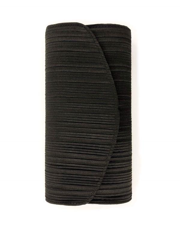 Pochette nera tessuto...