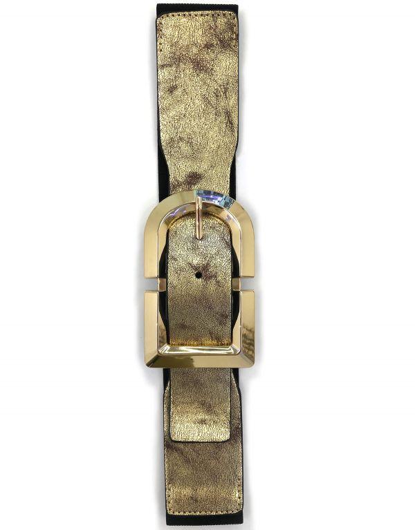 Cintura elastica oro con...