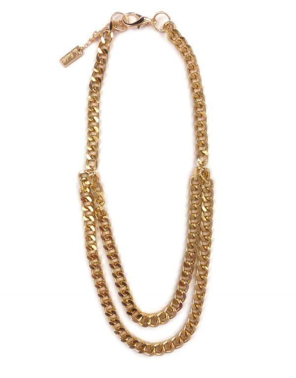 Collana catena oro a due fili